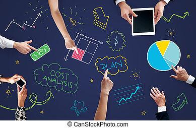tabela, equipe, negócio passa