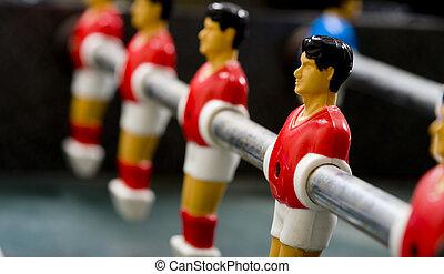 tabela foosball, futebol, ou, homens