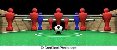 tabela foosball, um, equipe