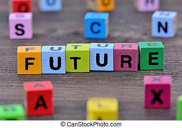 tabela, futuro, palavra