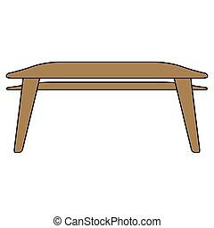 tabela, isolado, jantar
