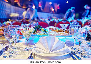 tabela, jogo, service., catering