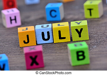tabela, julho, palavra