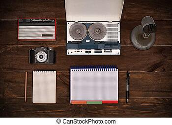 tabela madeira, objeto, antigas, retro