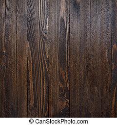 tabela madeira, topo, fundo, vista