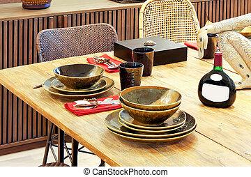 tabela, natural, dinning