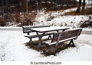 tabela, neve, banco