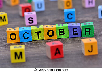 tabela, outubro, palavra