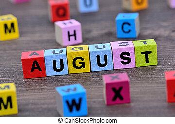 tabela, palavra, agosto
