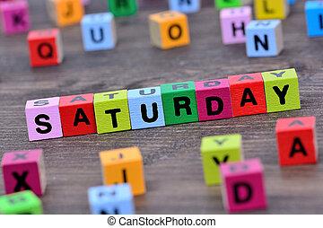 tabela, palavra, sábado