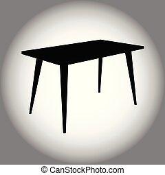 tabela, pretas, ícone