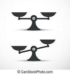 tabela, skalpy, set., ikony, symbol., wektor