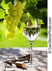 tabela, uva, jardim, vinho