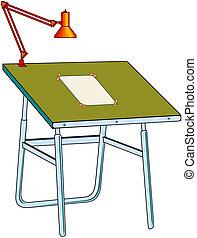 tabela, vetorial, desenho