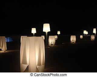 tabelas, iluminado