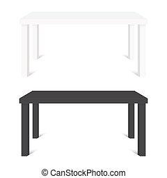 tabelas, isolado, ilustração, vetorial, experiência preta, branca