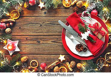 tabell sätta, jul