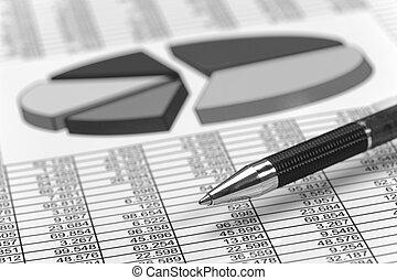 tabelle, an, stock market
