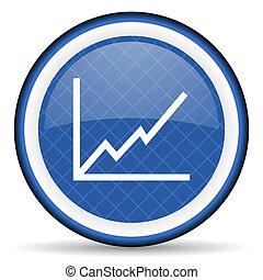 tabelle, blaues, ikone, bestand, zeichen