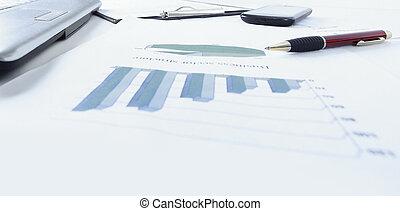 tabellen, tisch., schaubilder, geschaeftswelt