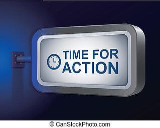 tabellone, azione, parole, tempo