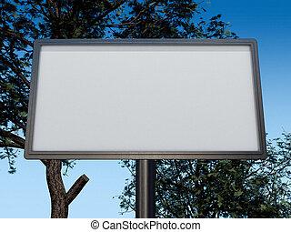 tabellone, bianco, 3d, vuoto, layout.