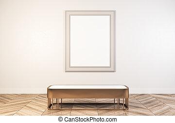 tabellone, bianco, galleria, vuoto