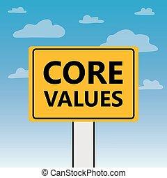 tabellone, centro, scritto, valori