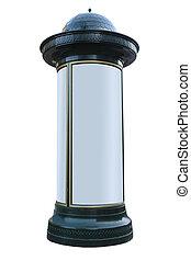 tabellone, cilindrico, isolato