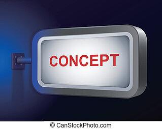 tabellone, concetto, parola
