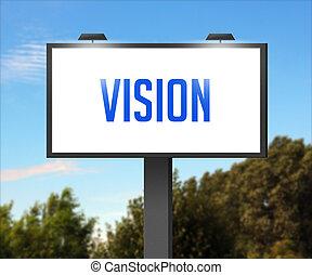 tabellone, esterno, visione