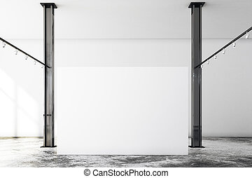 tabellone, moderno, soffitta, vuoto, galleria