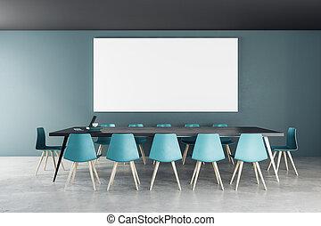 tabellone, moderno, stanza riunione