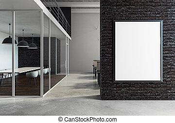 tabellone, moderno, stanza riunione, vuoto
