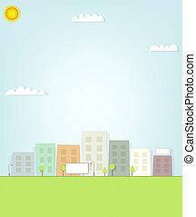 tabellone, paesaggio urbano