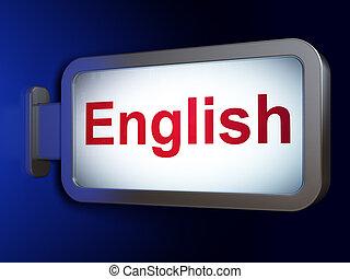 tabellone, studiare, concept:, fondo, inglese