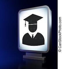 tabellone, studiare, concept:, fondo, studente