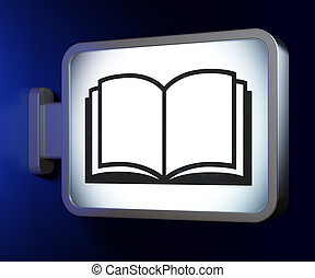 tabellone, studiare, libro, concept:, fondo