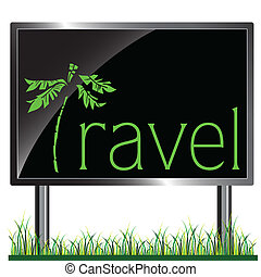 tabellone, viaggiare, vettore