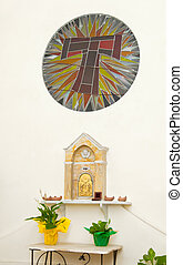 Tabernacle in a chapel of a church. - Tabernacle in a chapel...