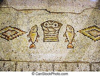 tabgha, イスラエル, 古代, モザイク