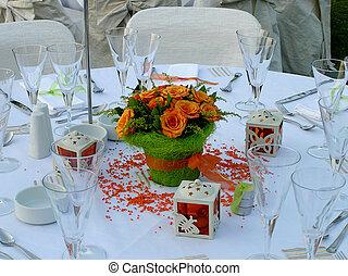 tabla, abastecimiento, boda