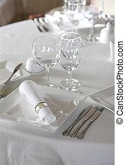 tabla, ajuste de cena, antes