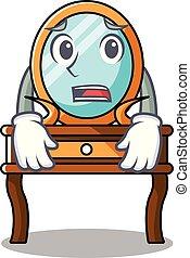 tabla, aliño, asustado, caricatura, mascota