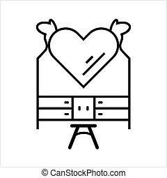 tabla, aliño, icono