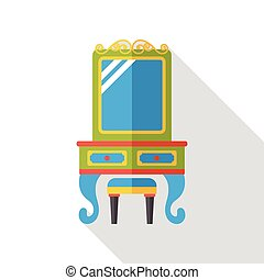 tabla, aliño, plano, icono