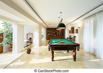 tabla, billiard, habitación, dibujo