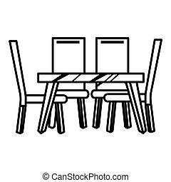 tabla, cenar, icono