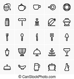 tabla, citas, utensilios