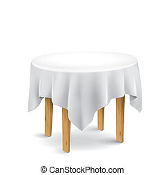 tabla, con, mantel